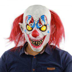 Helloween Masque De Clown Aux Cheveux Rouges Horrible -