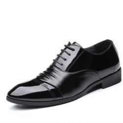 Men'S Fashionable Comfortable Lacing Wear-Resistant Leather Shoes -