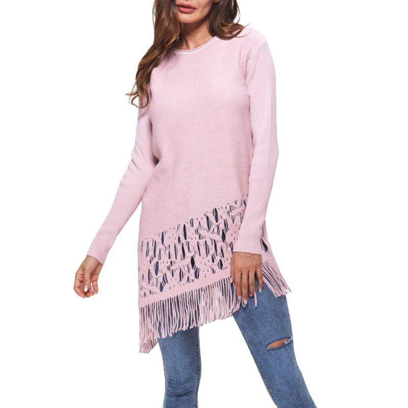 Chic Women Autumn Winter Candy Colors Tassel Pullovers Sweater