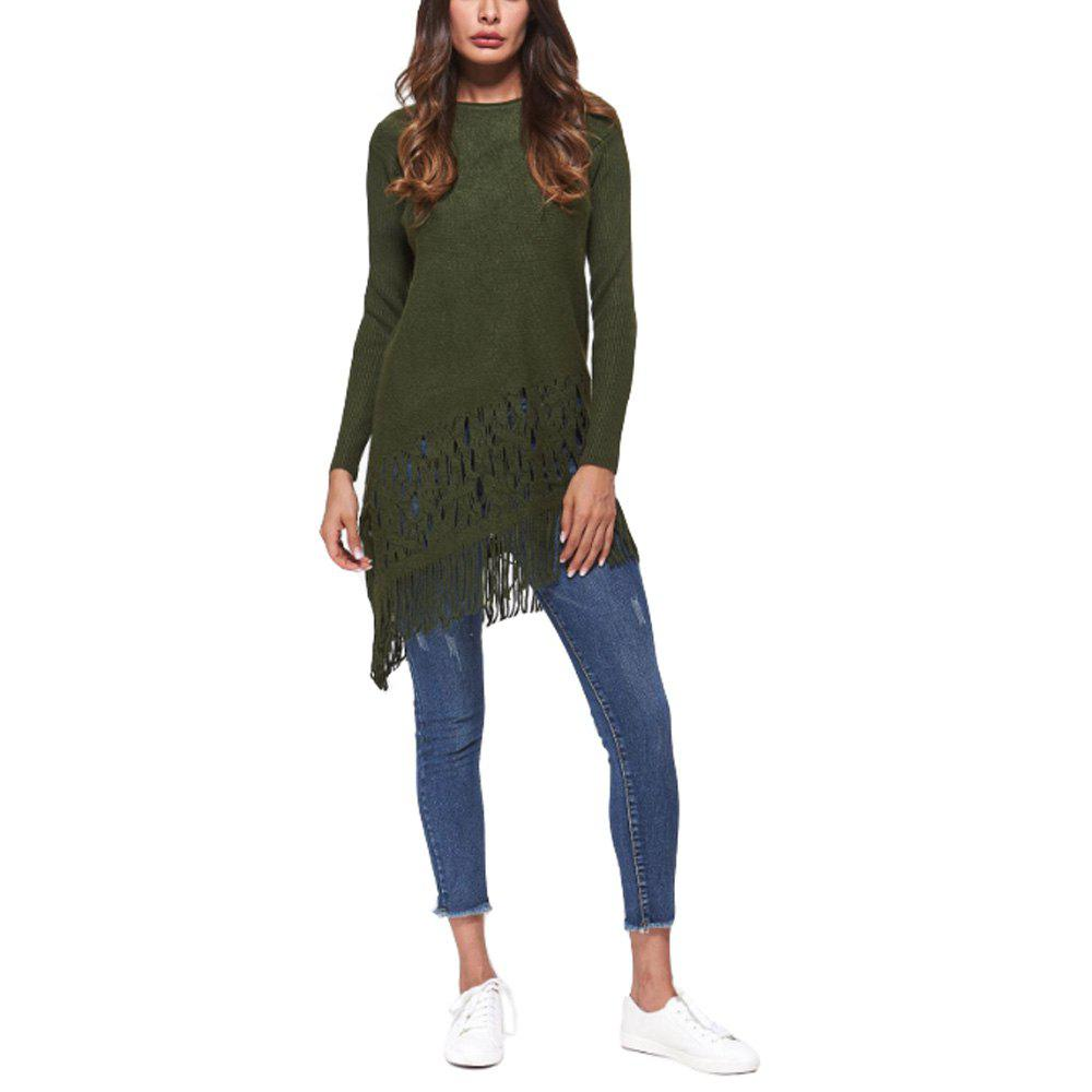Sale Women Autumn Winter Candy Colors Tassel Pullovers Sweater