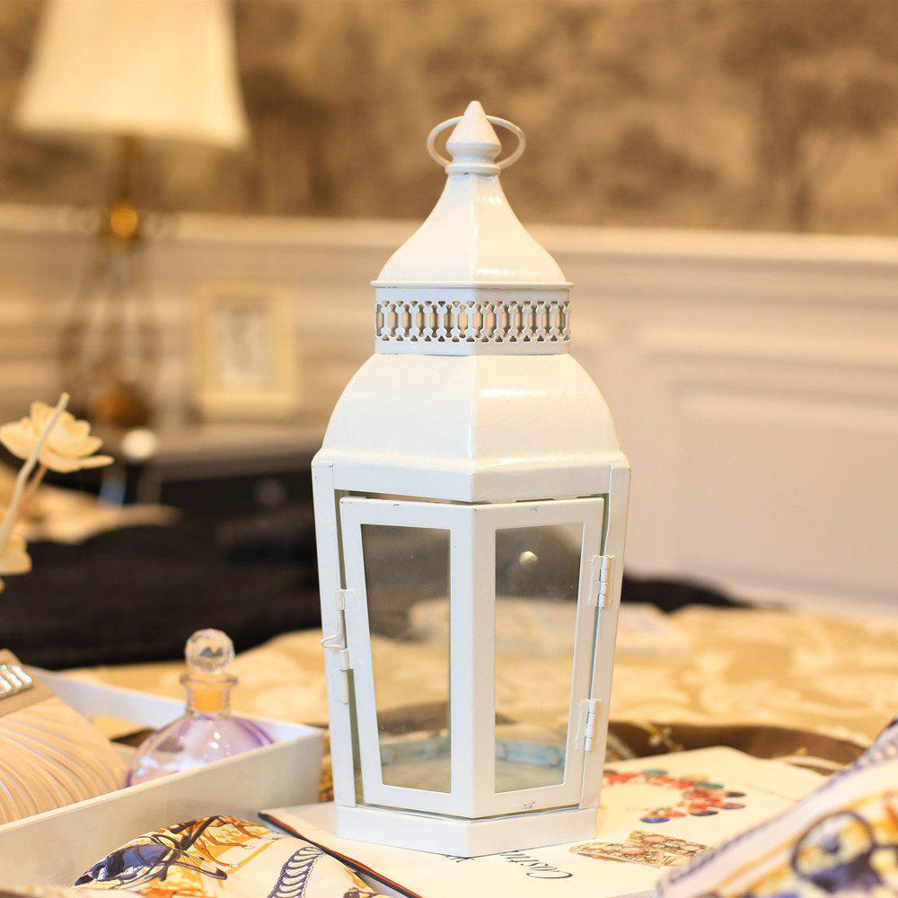 Outfit Retro Lantern Windproof Table Candle Holder Antique Garden Light