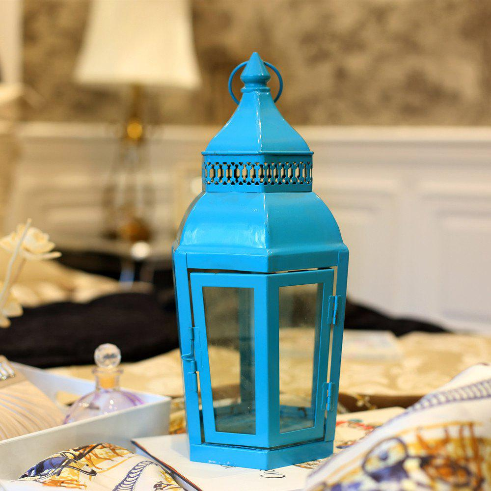 Cheap Retro Lantern Windproof Table Candle Holder Antique Garden Light