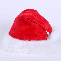 Christmas Hat Cap Party Santa Claus Red Plush Xmas Headgear Costume For Adults -