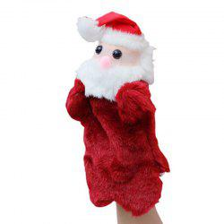 Red Lovely Short Plush Santa Claus Gloves -