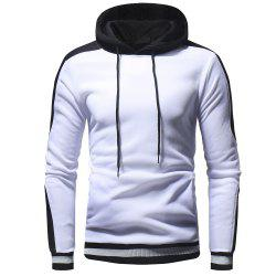 Raglan Sleeve Spell Color Men Leisure Wild Hooded Sweater -