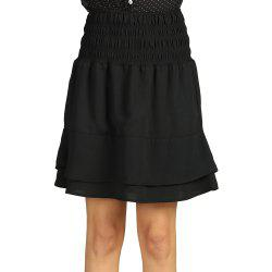 SBETRO Mini Pleated Skirt Solid Color Casual Autumn Winter -