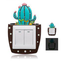Cactus lumineux autocollant commutateur Creative Set Home Decor -