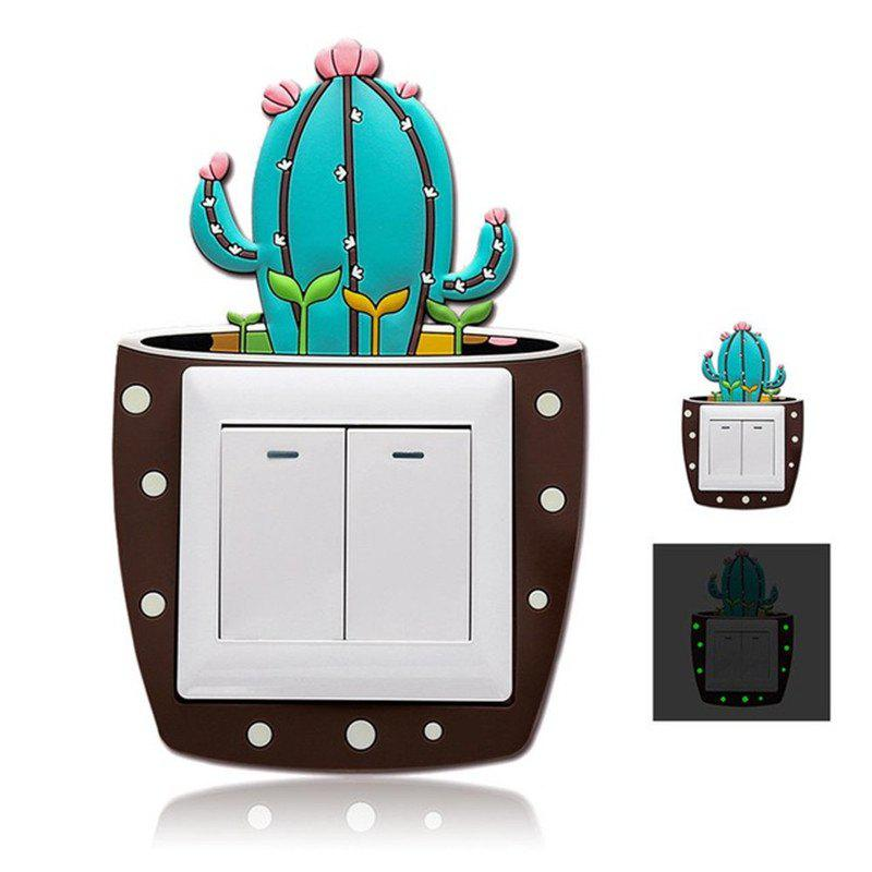 Cactus lumineux autocollant commutateur Creative Set Home Decor