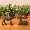 2PCS Resin Figurines Boutique Plum Flower Deer Ornaments -