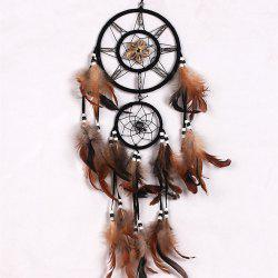 Vintage Home Decoration Retro Feather Dream Catcher Circular Wall Hang -