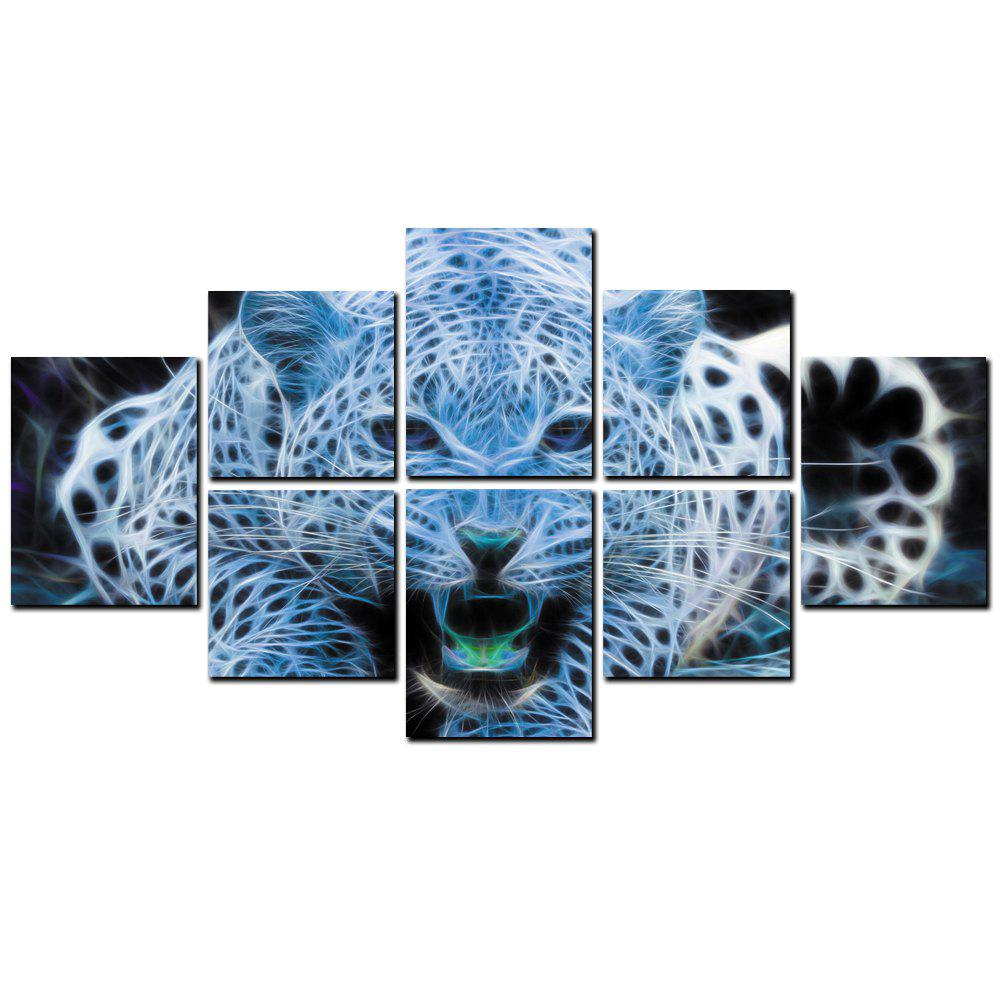 Outfit YISHIYUAN 8 Pcs HD Inkjet Paints Abstract Tiger Animal Decorative Painting