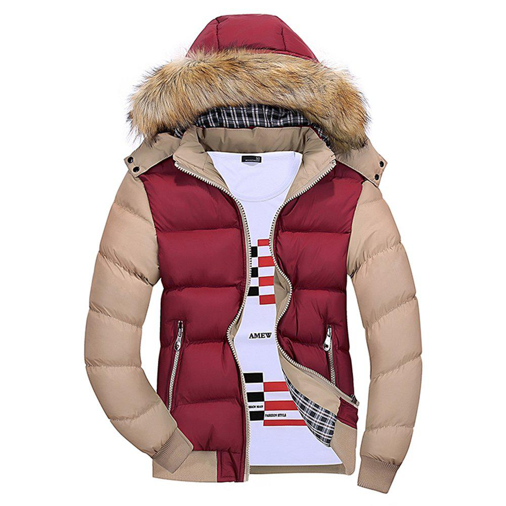 Best Winter Men'S Wear Winter Clothes Cotton Men with Hat Hat Collar Feather Wear