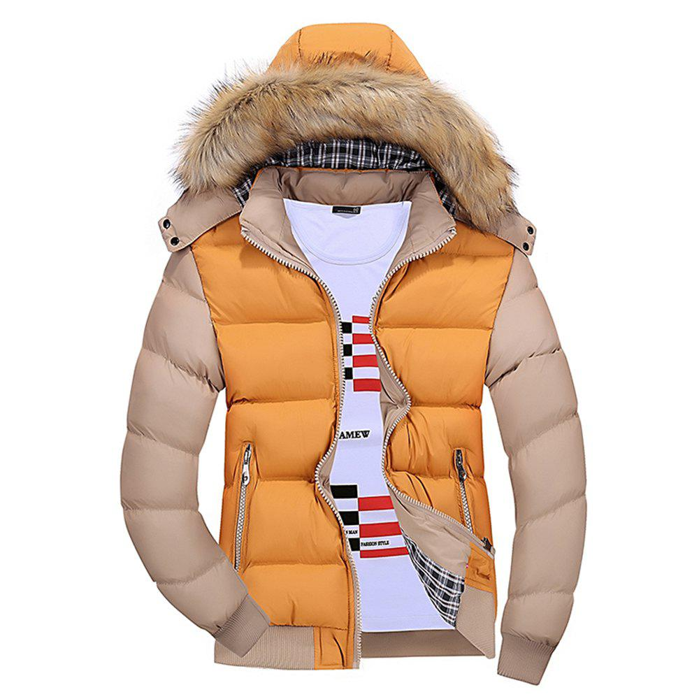Shops Winter Men'S Wear Winter Clothes Cotton Men with Hat Hat Collar Feather Wear