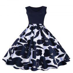 Dress V-Neck Print Vintage Dresses in Full Swing -