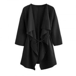 The New Lady Folds The Collar Long Sleeve Coat The Fashion Windbreaker -