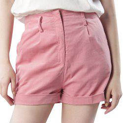 Simple Leisure and Sweet Commuter Corduroy Curling Wide Leg Shorts -