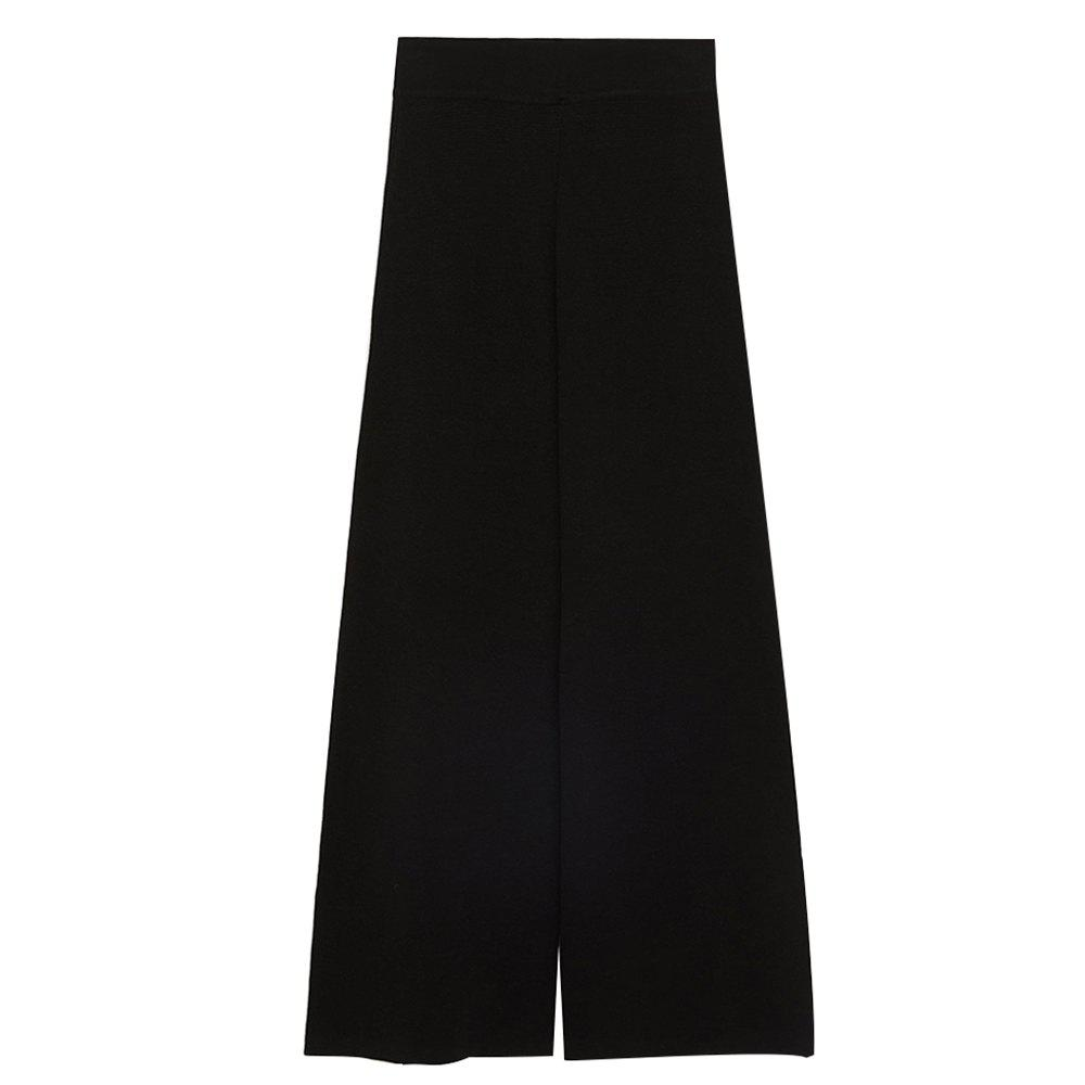 Fashion Commuter Split High Waist Reveals Woven Wide Leg Pants