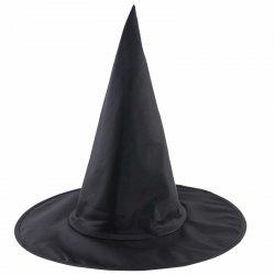Halloween Magic Witch Tip Hat Black -