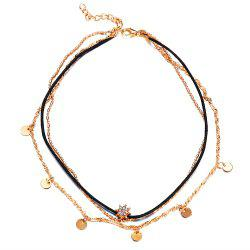 Fashion Multilayer Statement Crystal Pendant Necklace For Women -