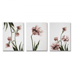 DYC 3PCS An Elegant Flower Print Art -
