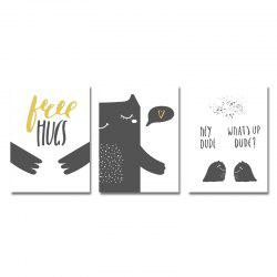 DYC 3PCS Lovely Cartoon Print Art -