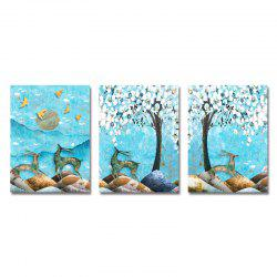 DYC 3PCS moonlinght Difference Print Art -
