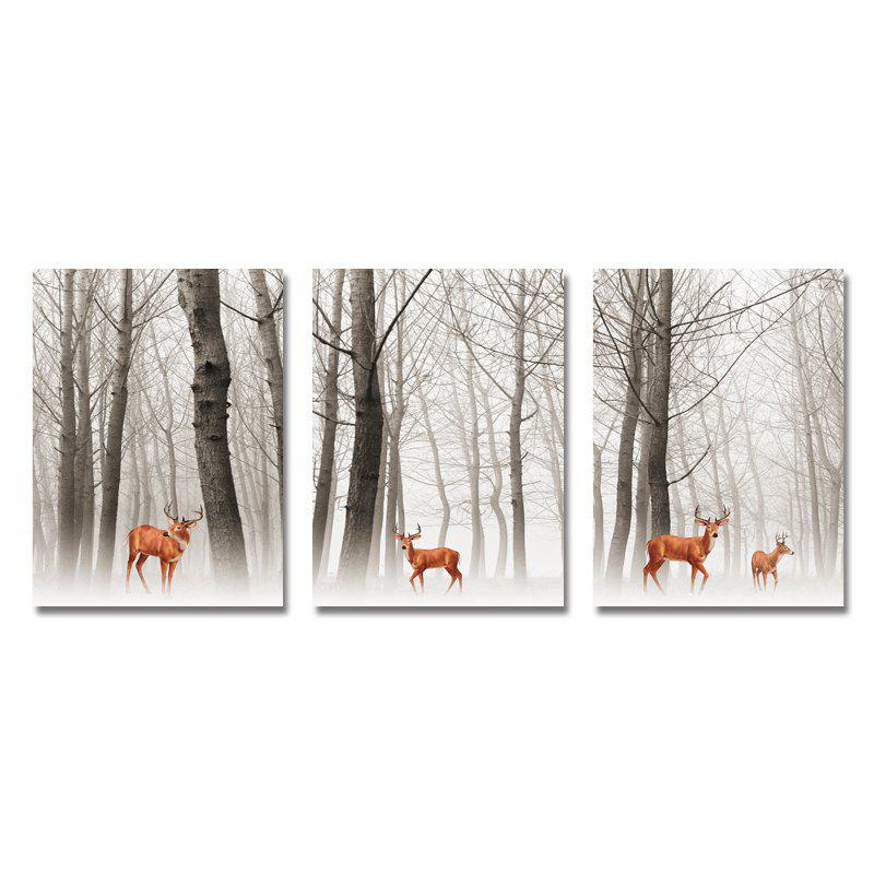 DYC 3PCS Wild Deer in The Woods Print Art
