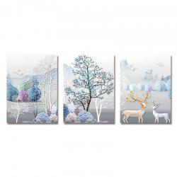 DYC 3PCS Beautiful Forest Landscape Print Art -
