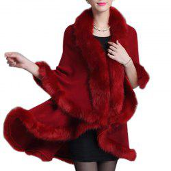 Women Oversized Sweater Faux Fur Coat Shawl Collar Sweaters -