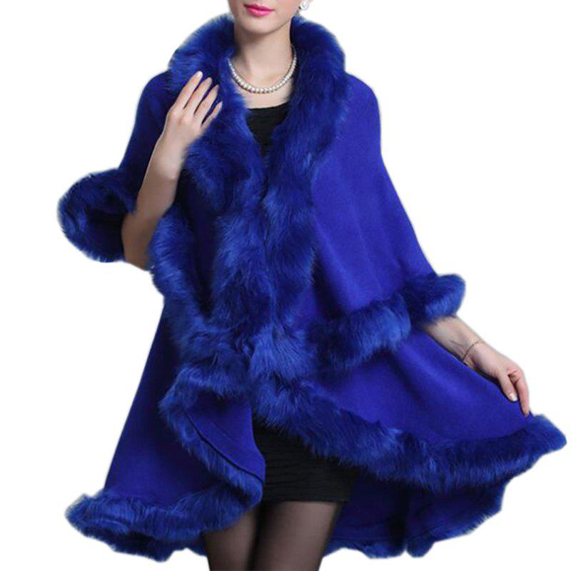 Affordable Women Oversized Sweater Faux Fur Coat Shawl Collar Sweaters