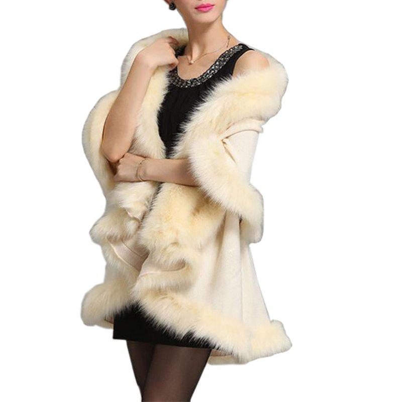 Best Women Oversized Sweater Faux Fur Coat Shawl Collar Sweaters
