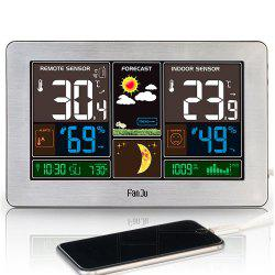 FanJu FJ3378 Weather Station Indoor Outdoor Temperature USB Charger -