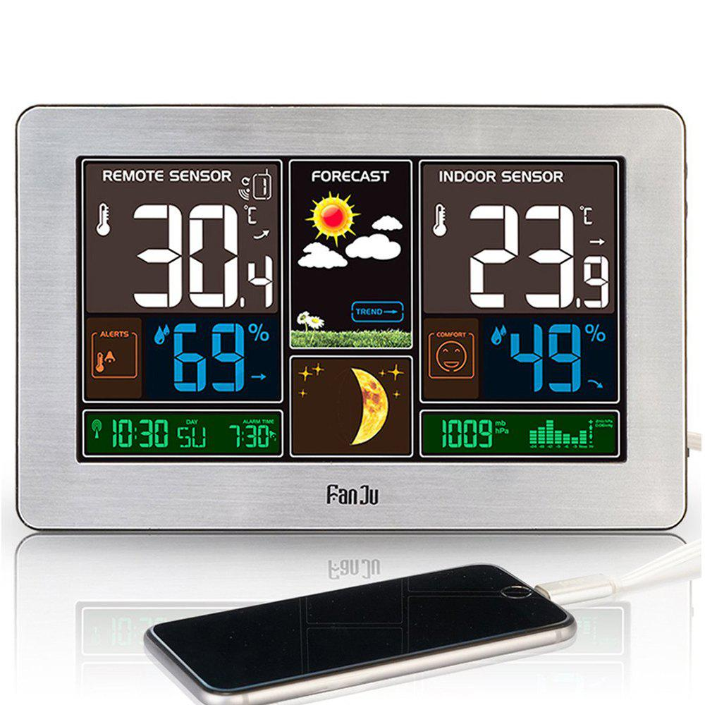 Fashion FanJu FJ3378 Weather Station Indoor Outdoor Temperature USB Charger