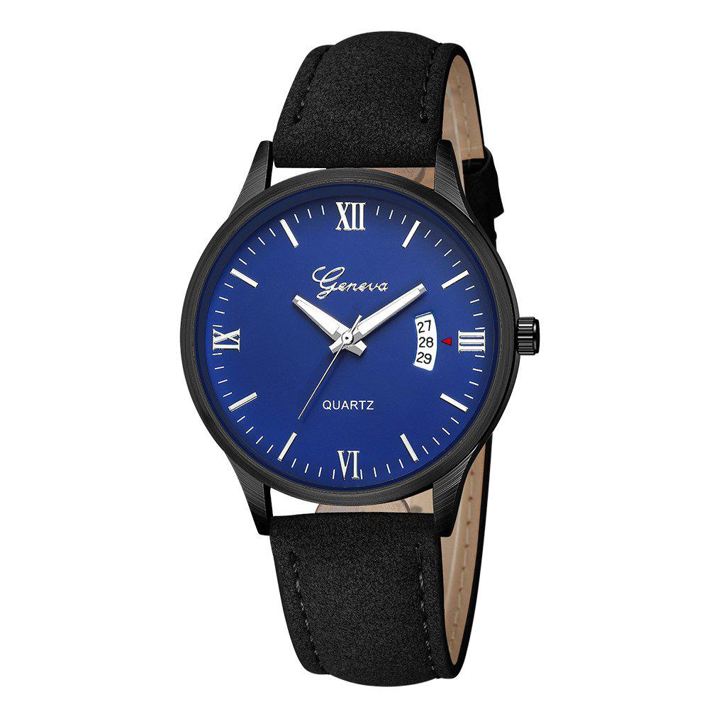 Chic Geneva Men Fashion Classic Business Calendar Strap Quartz Watch