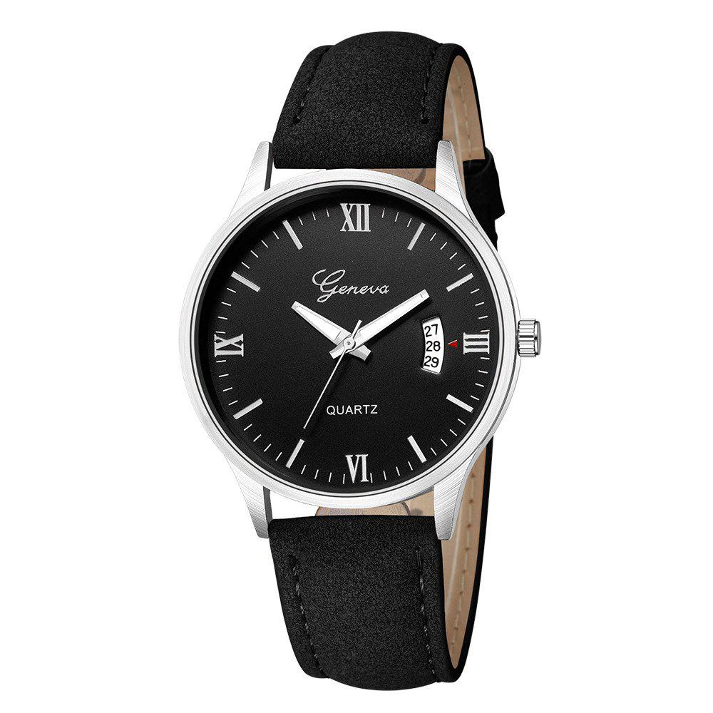 Online Geneva Men Fashion Classic Business Calendar Strap Quartz Watch