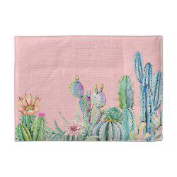 3D CACTI  Digital Single-Sided/Double-Sided Printed Linen Table Mat -