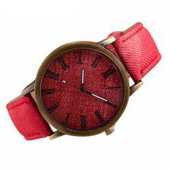 Denim Fashion Stainless Steel Quartz Analog  Man Watch -