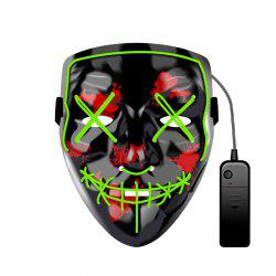 Halloween Mask EL LED Light up Purge Mask for Festival Cosplay Halloween Party -