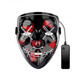 Christmas Mask EL LED Light up Purge Mask for Festival Cosplay Party -
