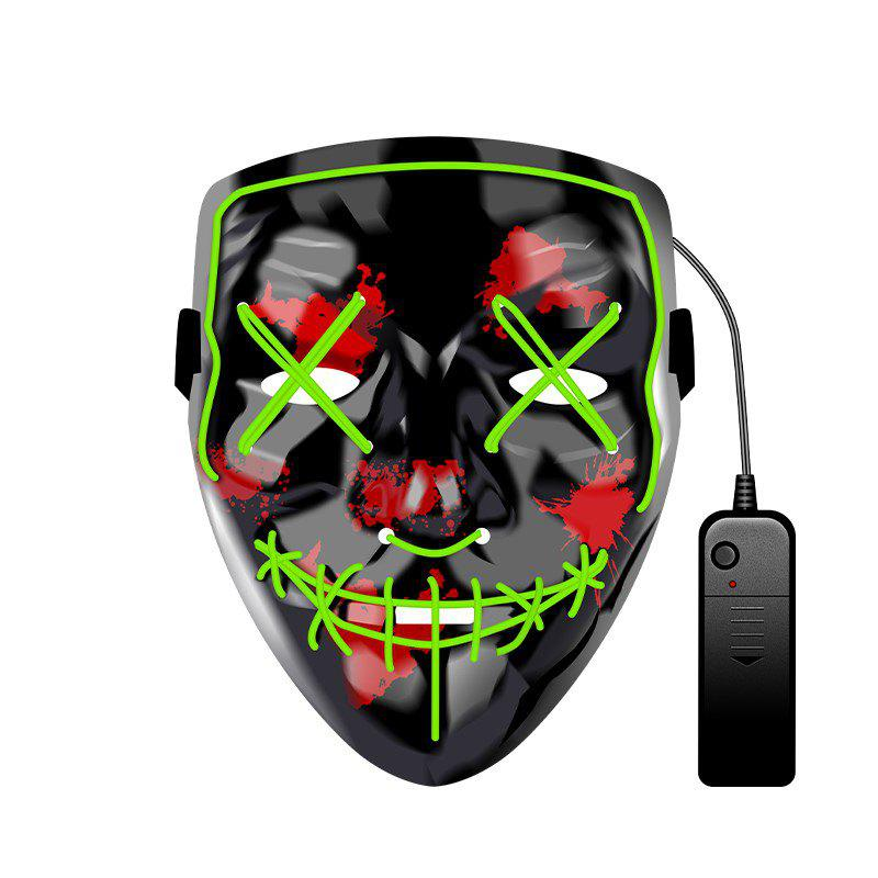 Outfits Halloween Mask EL LED Light up Purge Mask for Festival Cosplay Halloween Party