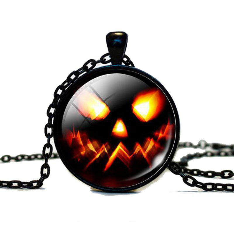 Хэллоуин Pumpkins Time Gem Glass Pendant Necklace