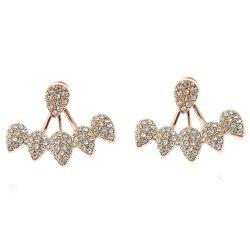 Individual Set with Vertical and Multi-Drop Separate Simple Ear Studs -
