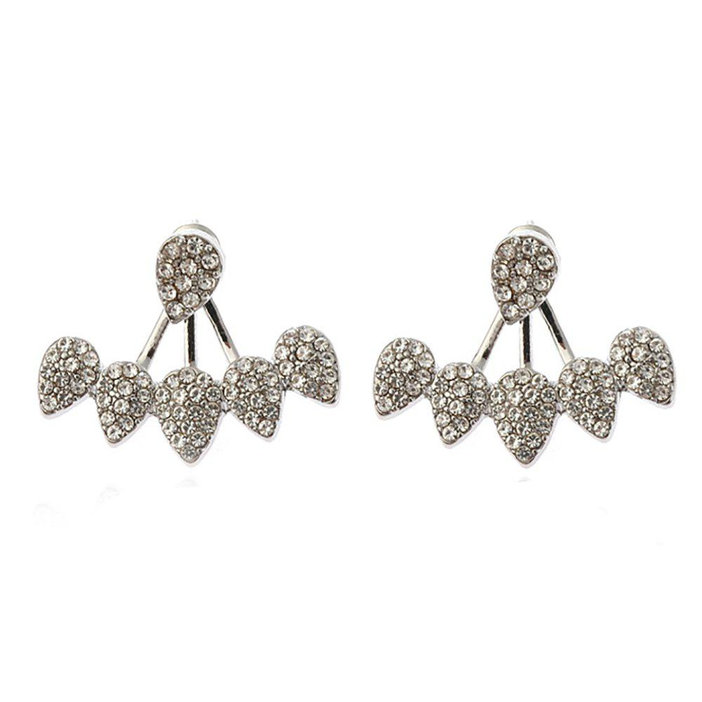 Trendy Individual Set with Vertical and Multi-Drop Separate Simple Ear Studs