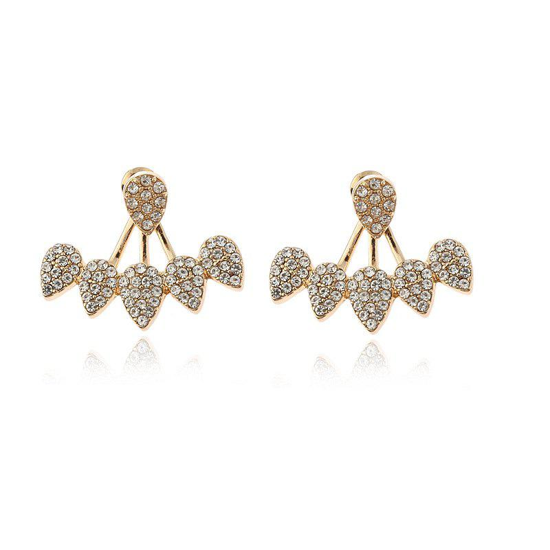 Chic Individual Set with Vertical and Multi-Drop Separate Simple Ear Studs