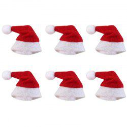 Mini Christmas Lollipop Cap Decoration 6PCS -