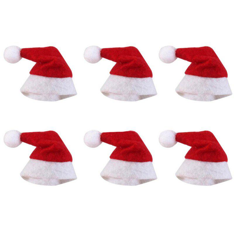 Outfit Mini Christmas Lollipop Cap Decoration 6PCS