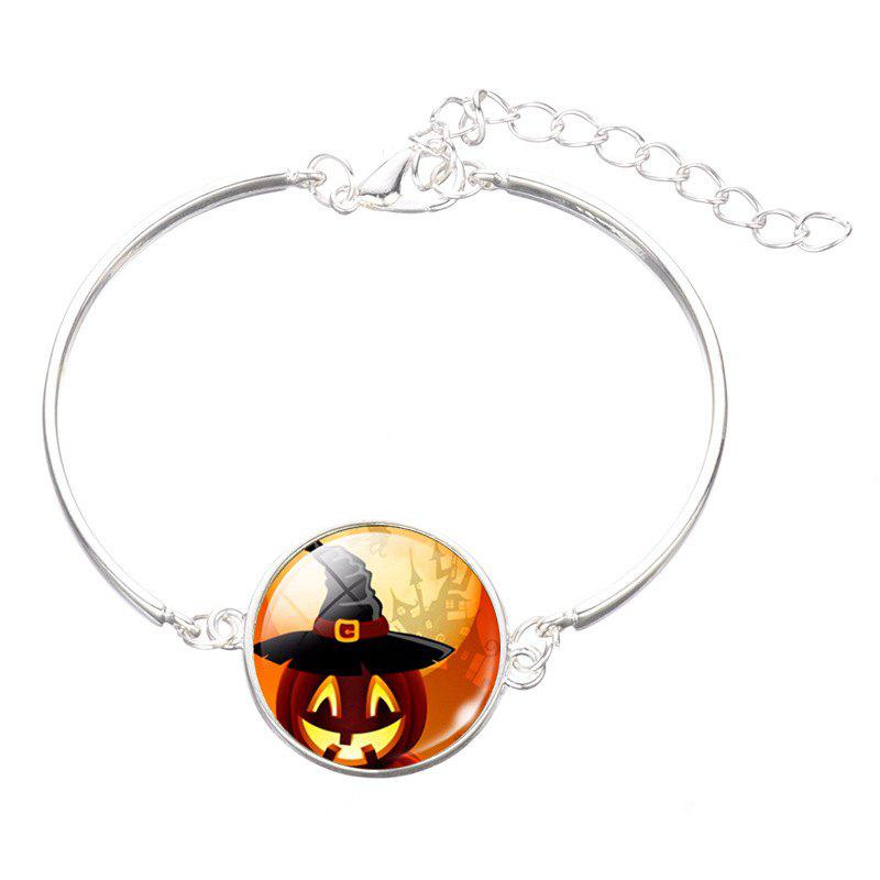 Chic Pumpkin Skeleton Time Gem Bracelet