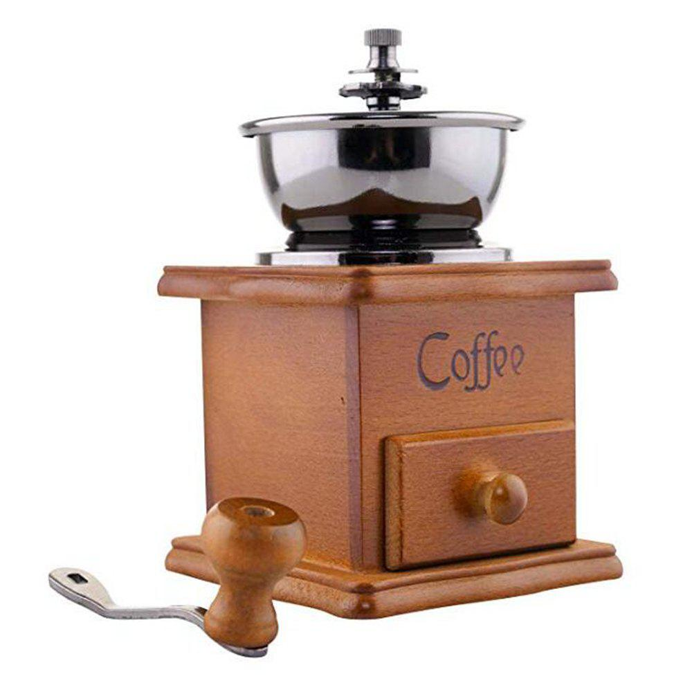 Hot Classical Wooden Manual Coffee Grinder Ceramic Burr Mill Antique