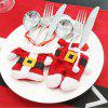 2 Pcs / Set Santa Claus Christmas Table Decor Couverts Couteau Fourchette Titulaire Poches -