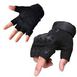 Men's Outdoor Tactics and Semi-full Finger O-slip Anti-slip Glove -